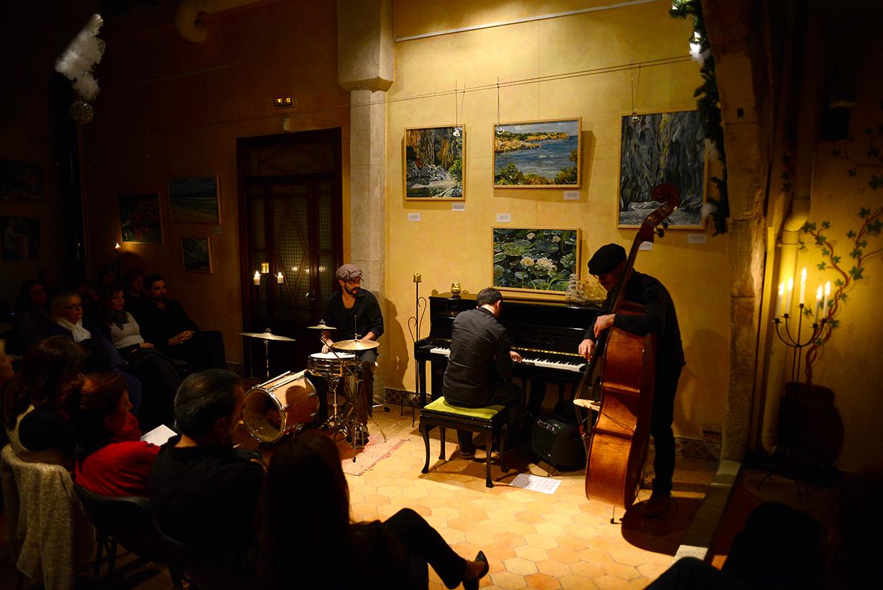 Fotografía de uno de los conciertos que los alumnos de la escuela renacimiento en Palma a realizado en la Fundación Sophia